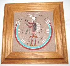 "Navajo ""Camel God"" Sand Painting Framed Art Collectible Tile Signed By L... - $95.00"
