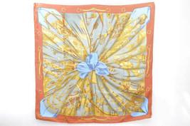"HERMES Scarf ""Soleil de soie"" 100% Silk Brown 90cm 3449 - $4.028,87 MXN"