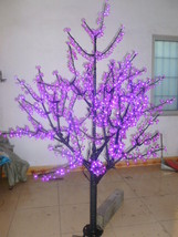 5 Ft Purple LED Cherry Tree Wedding party Holiday Garden decor 672 Light  - $339.00