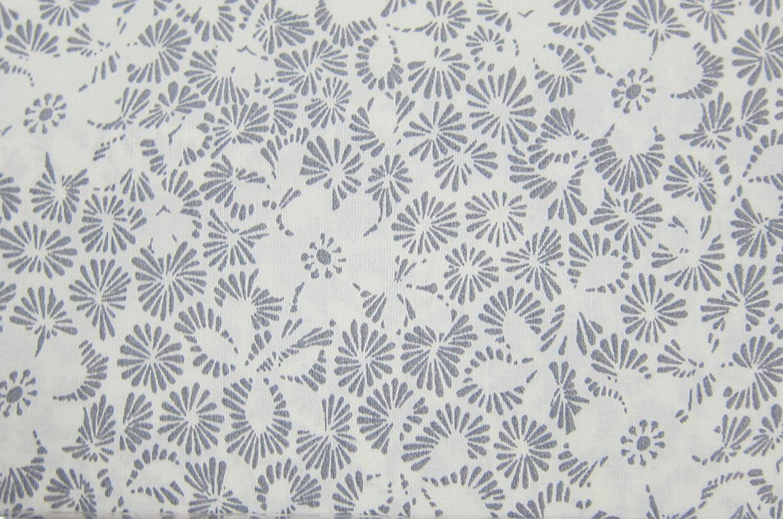 Ralph Lauren Gray and Cream Floral Sheet Set Queen