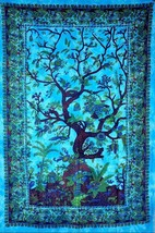 Indian Tree Of Life Tapestry Boho Hippie Ethnic Wall hanging Beach Sheet   - $221,96 MXN