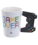 Ceramic Game Controller Shaped Handle Mug, Game Over Printed Cup in Gift... - $18.22