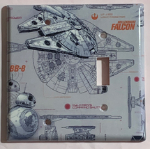 Star Wars Millennium Falcon BB8 BB-8 Switch Outlet wall Cover Plate Home Decor image 11