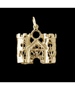 WOW New 24K Gold Plated King Queen prince princess Family Castle Charm J... - $39.05