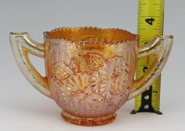 Antique Imperial Pansy Marigold Carnival Glass Cream and Open Sugar Set image 3