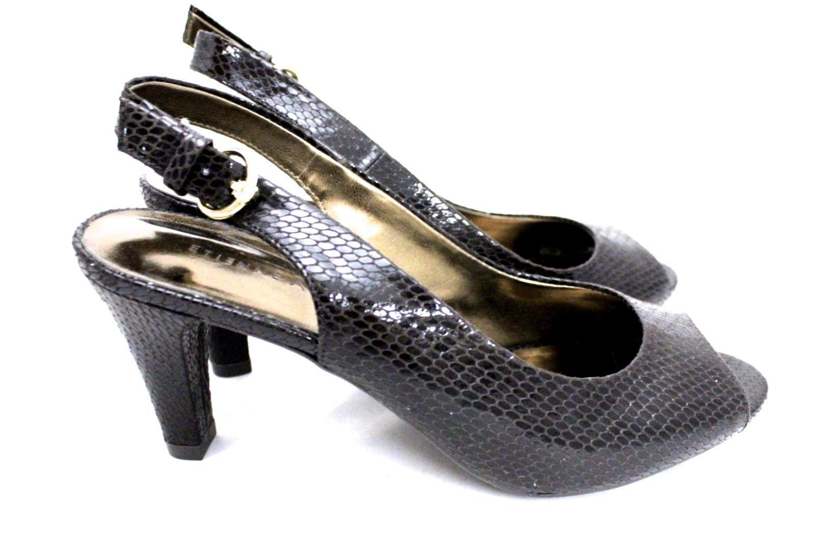 Etienne Aigner Marbella Women's 7 M Brown Faux Snakeskin Slingback Shoes NIB - $19.72