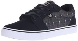 DC Men's Anvil TX SE Skate Shoe, Black/Tan, 6 M US - $51.92