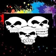 3 Skulls 02  Airbrush Stencil,Template - $10.99