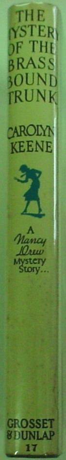 Nancy Drew Mystery of the Brass Bound Trunk no.17 1960B-42 Near Fine book VG DJ