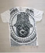 Men t shirt Best buy Hamsa Palm Hand Yoga Hindu Cotton Sure Design Best ... - $1.28