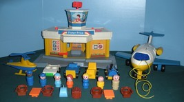 Vintage Fisher Price Play Family #993 Jetport Complete/VG+-VG++ (E) - $60.00