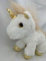 """Aurora White Unicorn Plush 9"""" Golden Horn Ears Hooves Stuffed Animal Toy - $12.95"""