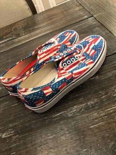 VANS Authentic - FREE FLAG Mens Lace up Shoes Men 9 / Women 10.5 USA Brand New!