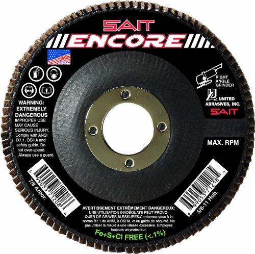 United Abrasives-SAIT 71208 Type 27 Encore Flap Disc, 4-1/2-Inch x 7/8-Inch Z 60