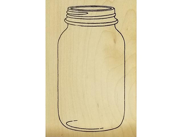 Inkadinkado-Wood Mounted Rubber Stamp-Canning Jar- #4244