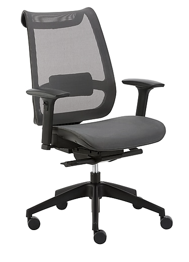 Primary image for NOB Ilano Mesh Task Chair 53252 Gray Adjustable Modern Mesh Back Office Chair