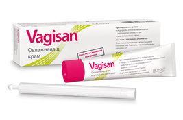 Vagisan Moisturizing cream for vaginal dryness with applicator softens skin - $24.21