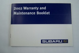 2002 subaru forester legacy impreza wrx owners maintenance schedule warranty  - $29.99