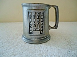 "Vintage Wilton Pewter Alphabet Mug / Cup "" Great Rare Collectible Item "" - $19.99"