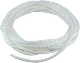 10' Ft 5/16'' Braided White Nylon Flagpole Halyard (Rope) - $7.46