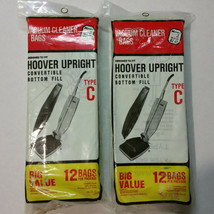 Lot of 21 Type C Vacuum Bags Hoover Upright Convertible Bottom Fill Carpet Care - $11.00