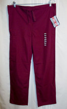 "Cherokee Nurse Scrub Pants Size XS NEW in Wine Waist 36""X 31"" Tie Tabs W... - $8.99"