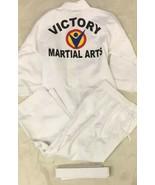 Taekwondo Karate Outfit ATA Victory martial arts white uniform Size 0 White - $15.25