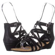 Born Mimi Strappy Gladiator Sandals 075, Black, 7 US / 38 EU - $27.83