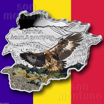 GOLDEN EAGLE - 2013 Andorra - MAP SHAPED Colorized .999 SILVER COIN in B... - $89.00