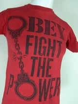 Obey Propaganda Shepard Fairey Fight the Power Handcuffs Red T Shirt Small - $19.75