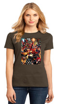Wolverine Black Widow Captain Marvel Spider-Woman Ladies Crew Tshirt Size XS-4XL - $19.99+