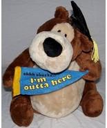 Vtg Gund Graduation Goober Brown Teddy Bear Cap Banner Plush Toy Pot Bel... - $70.55