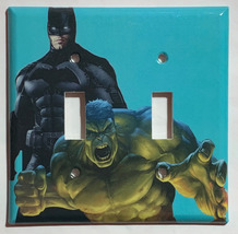 Batman Hulk Light Switch Outlet Toggle Rocker Wall Cover Plate Home Decor image 2