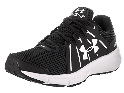 Under Armour Women's Dash Rn 2 Blk/Wht/Wht Running Shoe 5.5 Women US