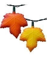 Autumn leaf Sting lights - Thanksgiving party lights - Red & Gold Maple ... - £34.79 GBP