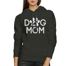 Dog Mom Dark Grey Unisex Hoodie Pullover Cute Gift For Dog Owners - $25.99+