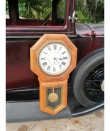 Antique Regulator Clock Large Long Drop Sessions 'Eclipse' (St. Claire) ... - $359.00