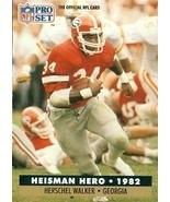 Herschel Walker Football Card (Georgia) 1991 Pro Set Heisman Hero #44 - $4.00