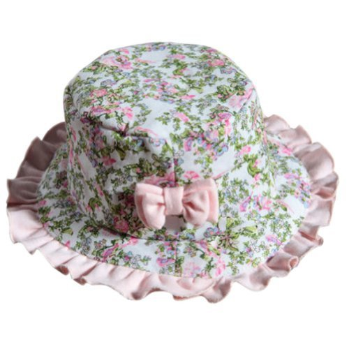 Baby Girl Sun Protection Hat Infant Floppy Hat Toddler Summer Cap Pink Lace 52CM