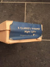"""Complete Set of 8 Clarke's """"Pyramid"""" Night Lights (Candles)-RARE in original box image 3"""