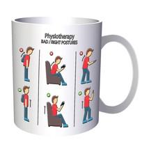 Physiotherapy Bad / Right Postures 11oz Mug g379 - £8.45 GBP