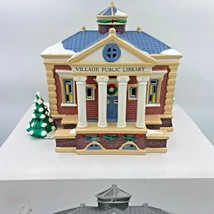 Dept 56 Snow Village Public Library 5443-7 Mint in Box with Light Christ... - $69.95