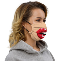 Women Face Funny Red Lips Womens  image 3
