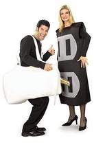 Rubies Plug & Prise Drôle Adulte Électrique Couples Déguisement Hallowee... - $43.88
