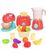 LBLA Kids Pretend Play Kitchen Set, Assorted Kitchen Appliance Toys with... - $31.47