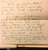BEN-HUR A Tale of the Christ -by Lew Wallace 1904, w/letter and signature - $539.00