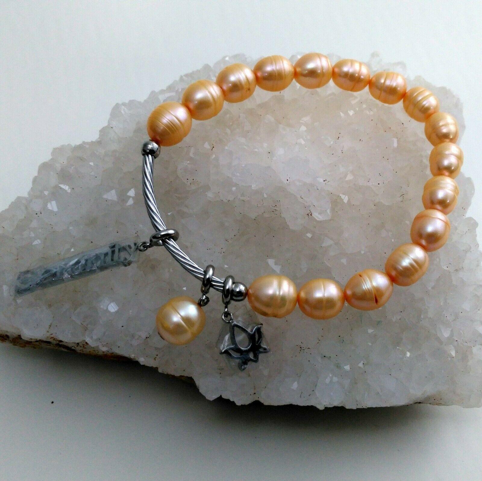 Fresh Water Pearl Stretch Serenity Bracelet