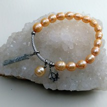 Fresh Water Pearl Stretch Serenity Bracelet image 1