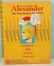 Great Battles of Alexander: Macedonian Art of War GMT 1991 UNPUNCHED - $25.69