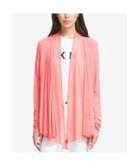 DKNY Women's NEW Draped Open-Front Blazer Jacket Coral Bead $99 Size XS/... - $18.04